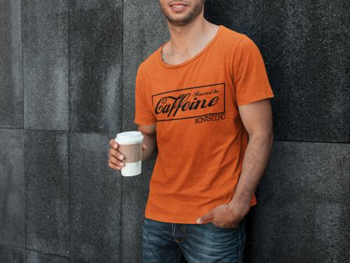 SHIRT POWERED BY CAFFEINE